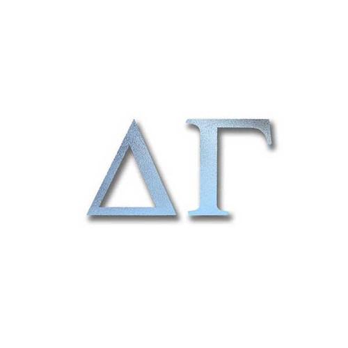 Delta Gamma Letter Sticker in Silver