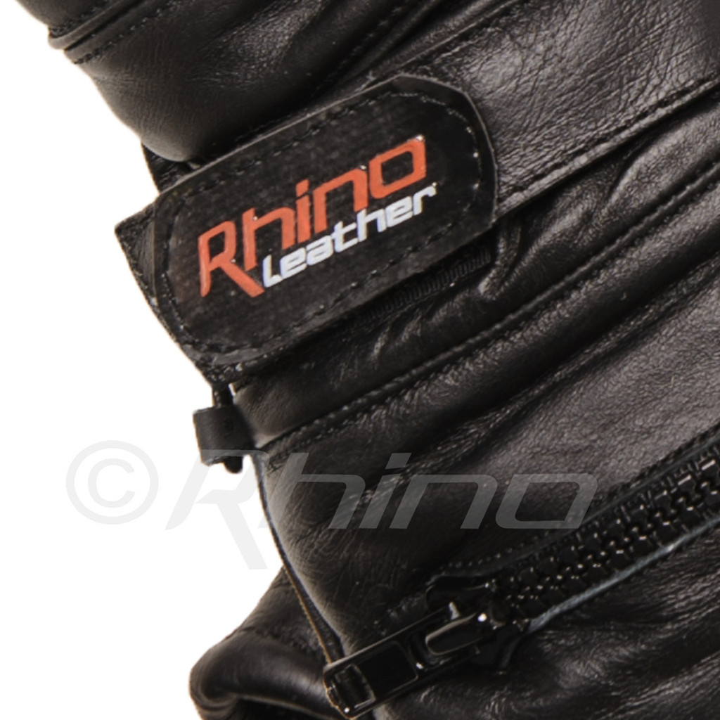 Leather Motorcycle Gauntlet Gloves with magic strap