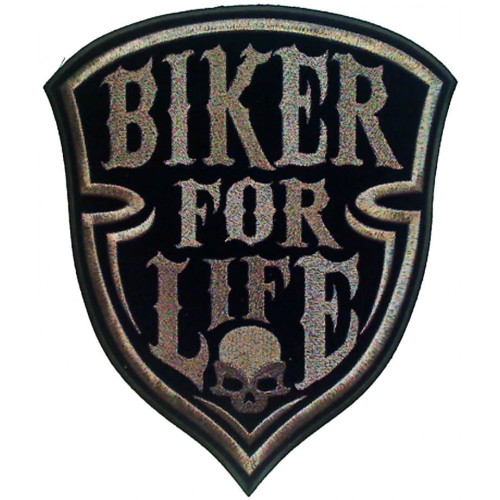 Biker for Life Embroidered Patch