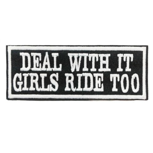Deal with it Motorcycle Embroidered Patch