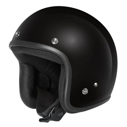 Dririder Base Open Face Helmet - Black Gloss Finish