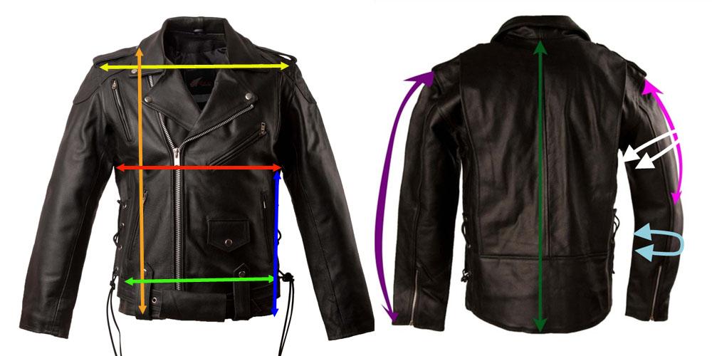 custom leather jacket - front
