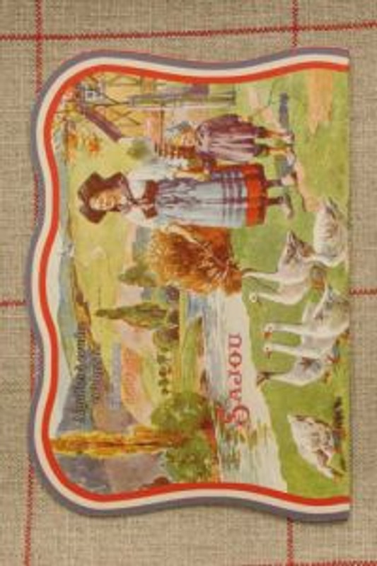 Vintage Needle Folding Card - Alsatian Goose Girl