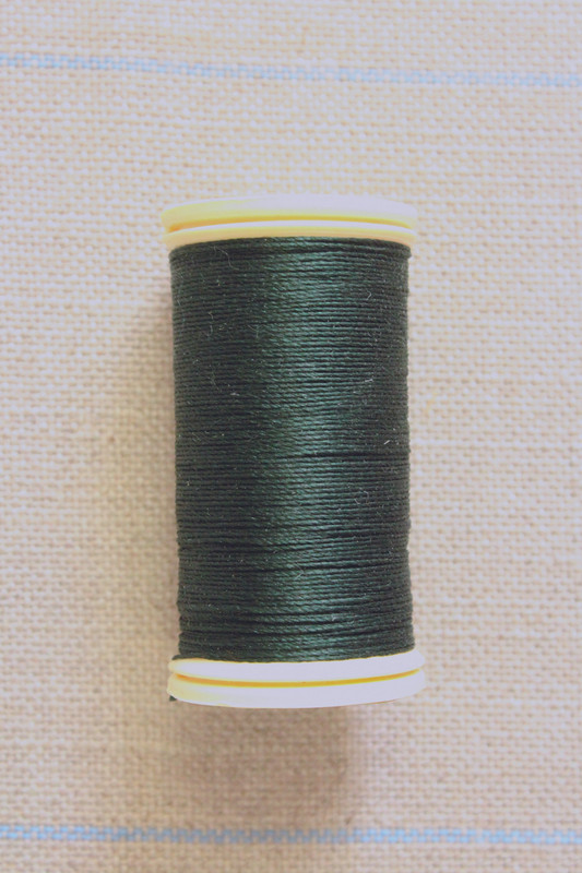 Silk Thread Spool - Bottle Green