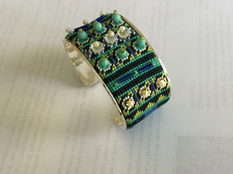 Bracelet Cuff Needlepoint Kit - C1 Pattern