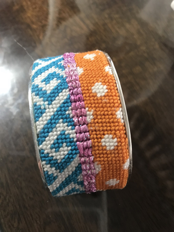 Bracelet Cuff Needlepoint Kit - C8 Pattern