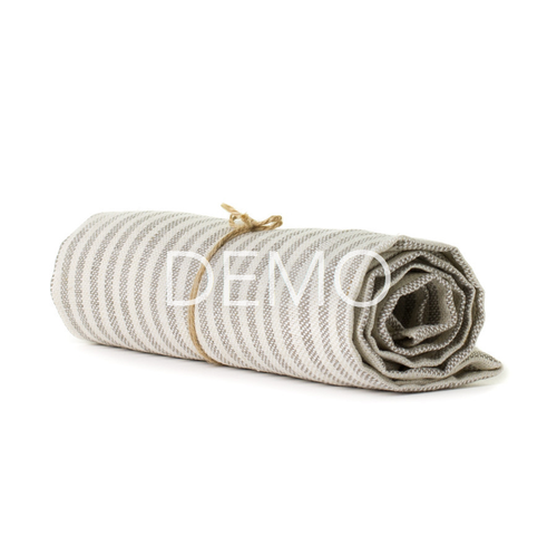 Fashion Fog Linen Chambray Towel - Beige Stripe