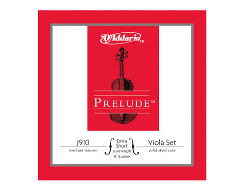 "D'Addario Prelude Set for Viola J910 - Extra Short 13"" and under"
