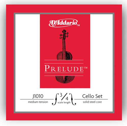 D'Addario Prelude Cello Strings Set - 3/4