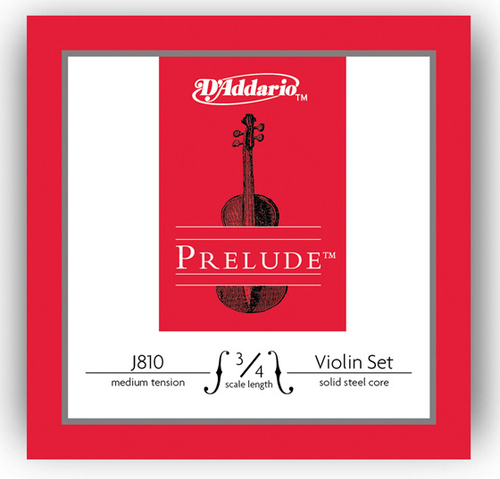 D'Addario Prelude Violin Strings Set - 3/4