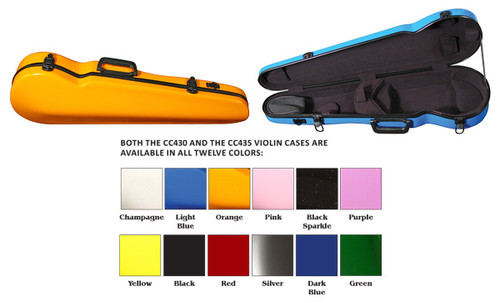 Core Fiberglass Violin Suspension Case - 4/4 only