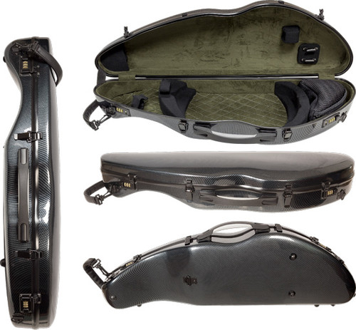 Core Carbon Composite Violin Case - Contoured Shaped Black - 4/4