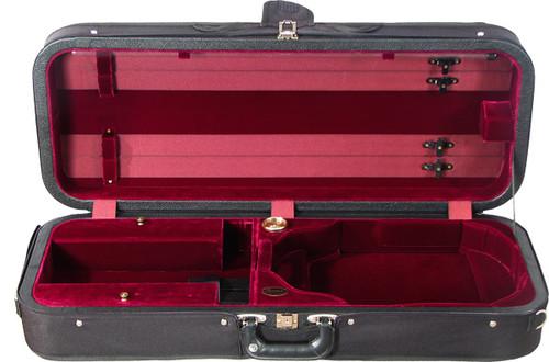 Bobelock Featherlite Oblong Adjustable Viola Case - Velvet - Wine