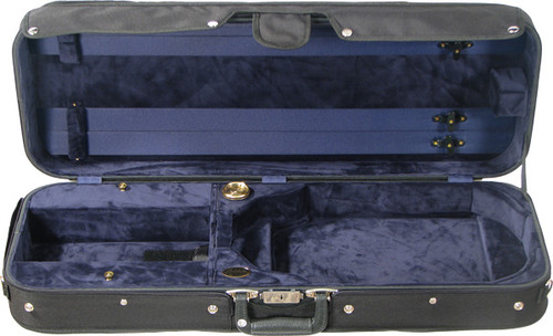 Bobelock Featherlite Oblong Adjustable Viola Case - Velour - Blue