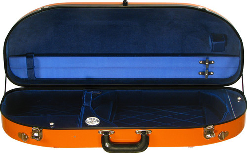 Bobelock Fiberglass Moon Adjustable Viola Case - Orange/Blue