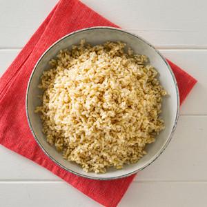 Brown Rice Side Portion High Angle