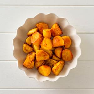 Roast Paprika Potato Side Portion High Angle