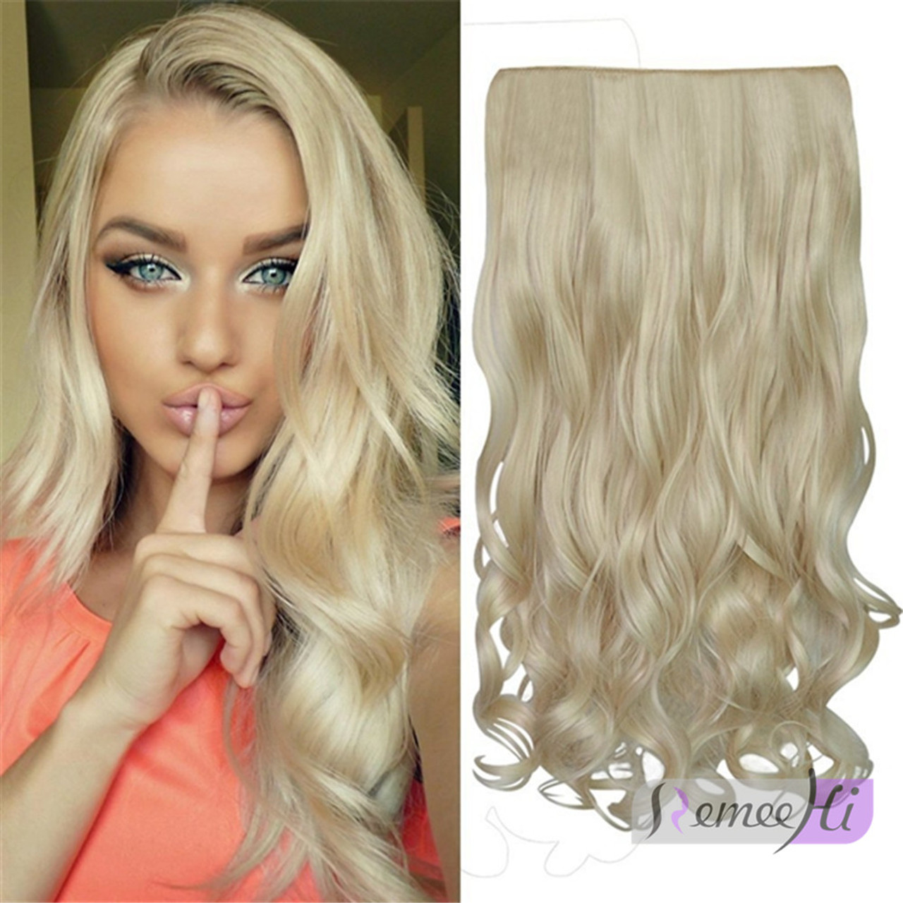 Remeehi One Piece 25cm 80g Straight Clip In Hair Extension For Full