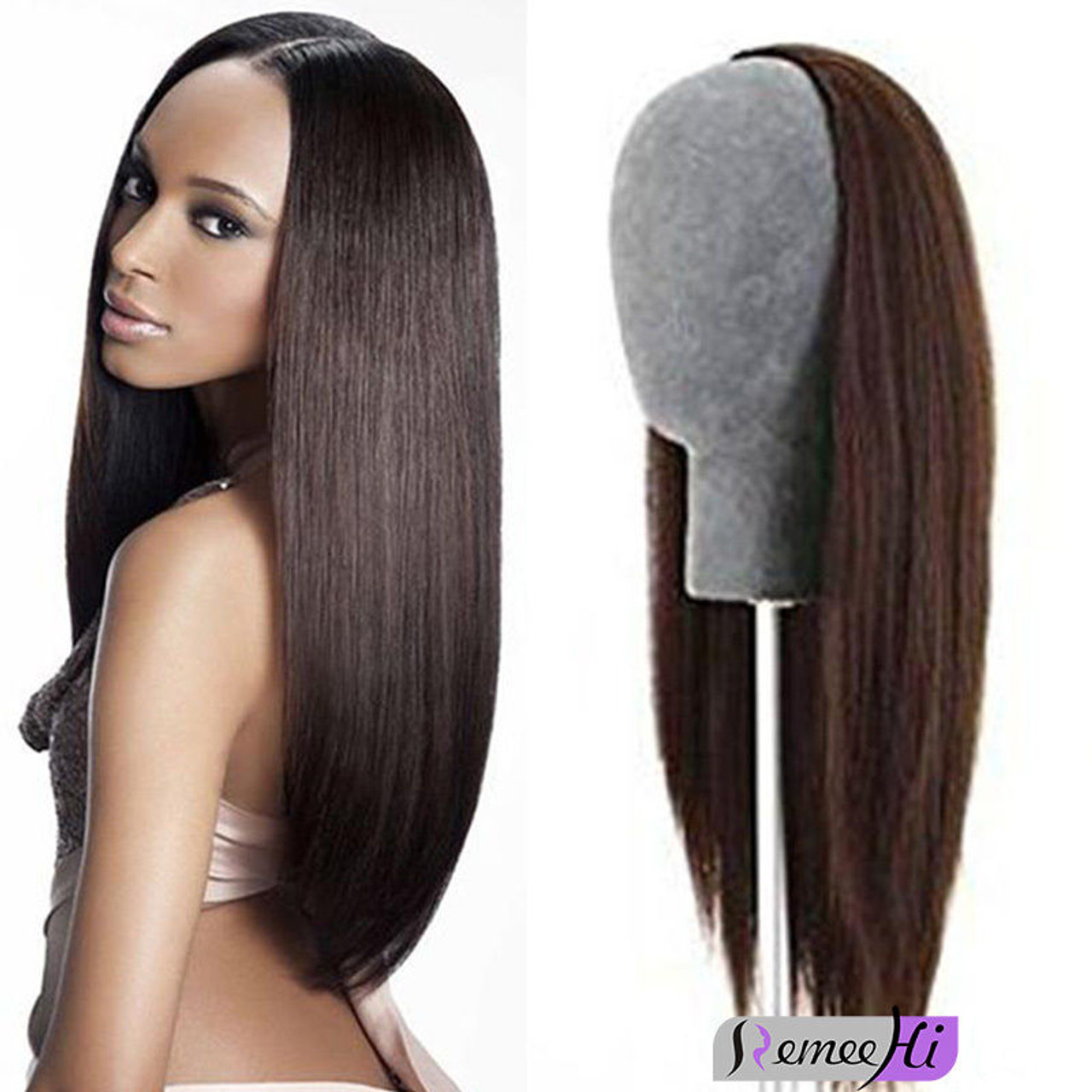 Remeehi Straight Half Wig Clip In Human Hair Extension