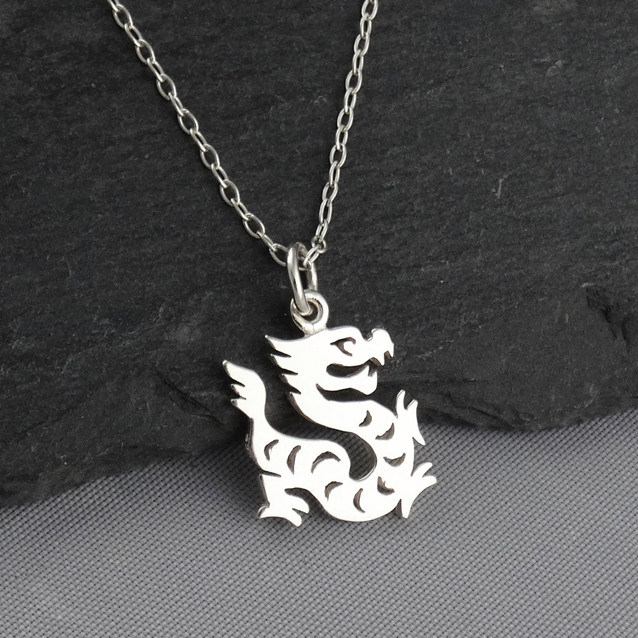 Year of the dragon necklace sterling silver fashionjunkie4life year of the dragon necklace sterling silver chinese zodiac pendant aloadofball Choice Image