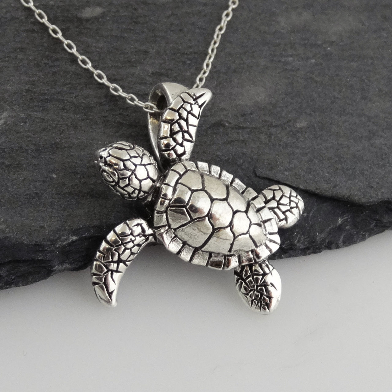 Baby sea turtle 3d necklace 925 sterling silver fashionjunkie4life baby sea turtle 3d necklace 925 sterling silver aloadofball Gallery