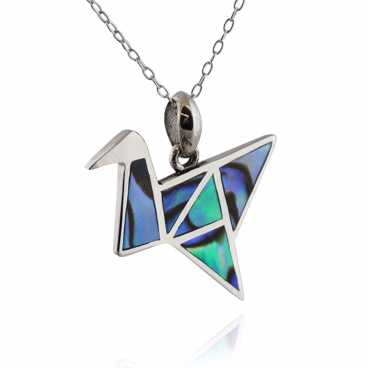 Origami Crane Necklace - 925 Sterling Silver - Genuine ... - photo#28
