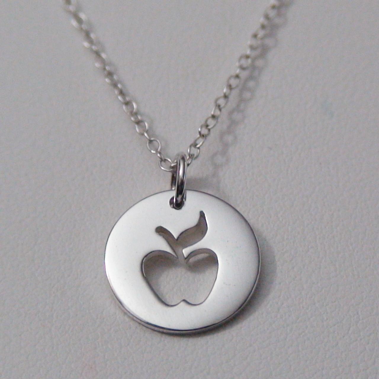 Sterling silver apple pendant aloadofball Images