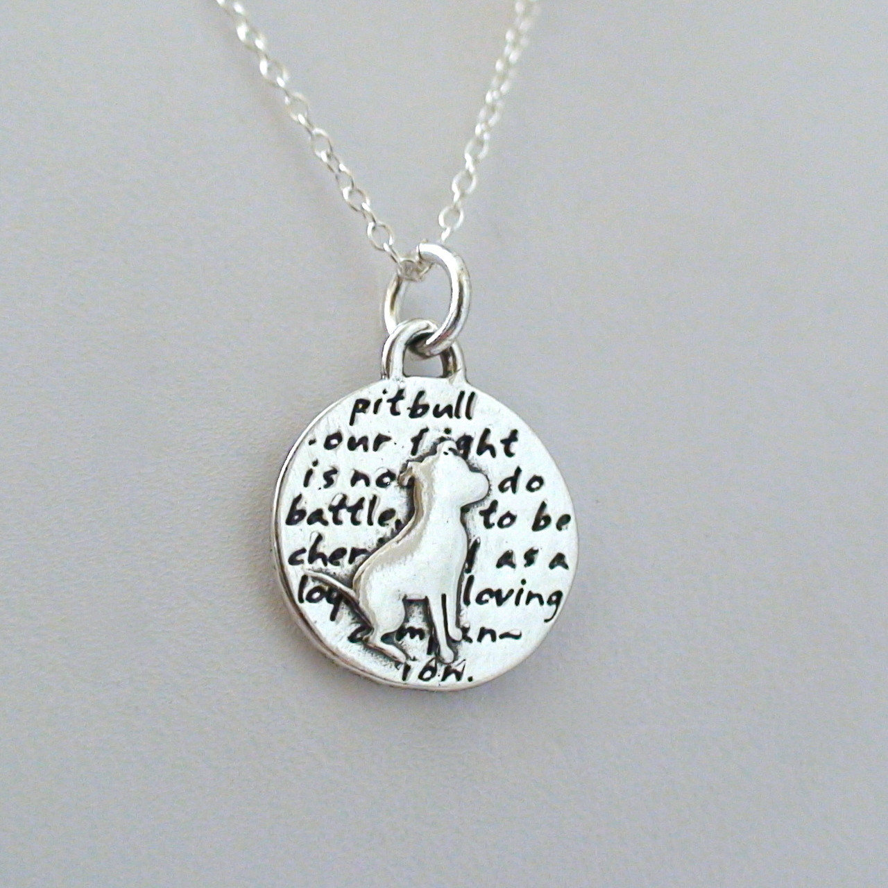 Sterling silver pit bull necklace fashionjunkie4life sterling silver pit bull charm necklace aloadofball Choice Image