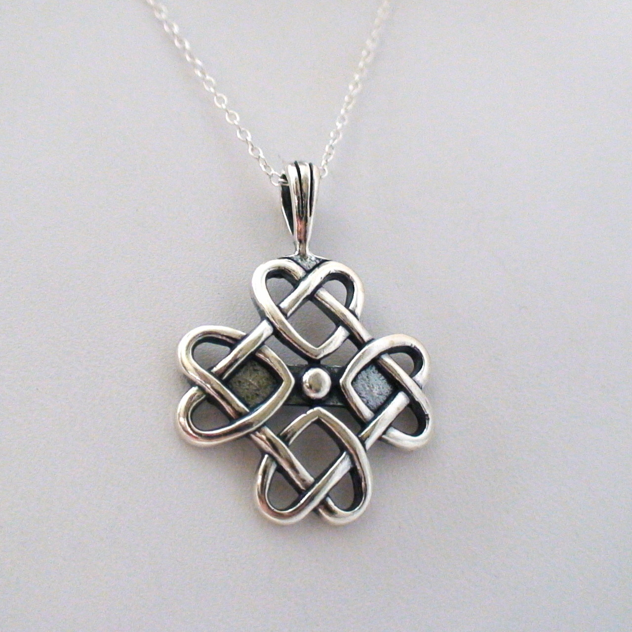 Celtic love knot necklace 925 sterling silver sterling silver celtic love knot necklace aloadofball Image collections