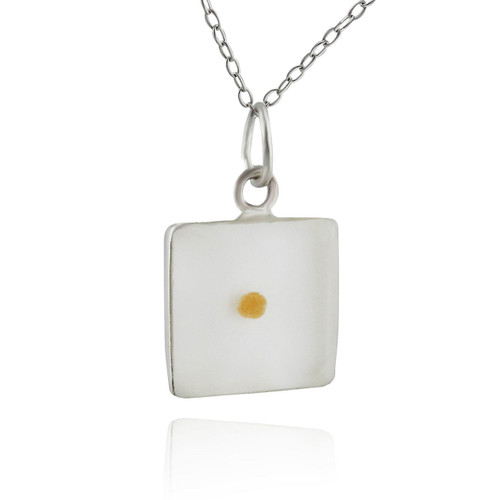 Square mustard seed pendant necklace clear resin 925 sterling square mustard seed pendant necklace clear resin 925 sterling silver aloadofball Choice Image
