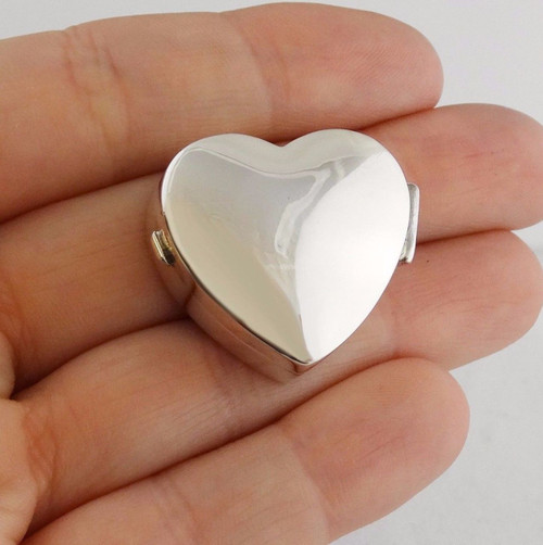 Gifts pill boxes fashionjunkie4life heart pill box or keepsake case 925 sterling silver aloadofball Choice Image