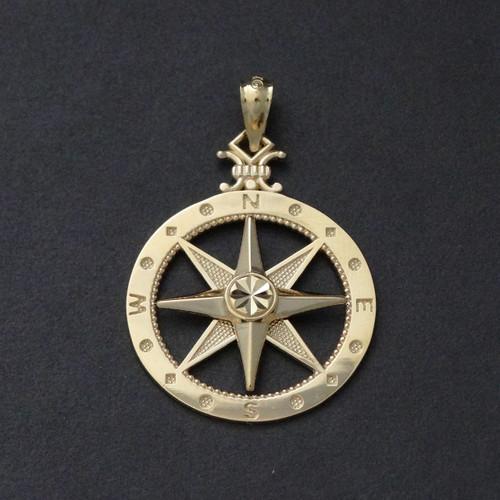 10k Yellow Gold Compass Pendant Fashionjunkie4life
