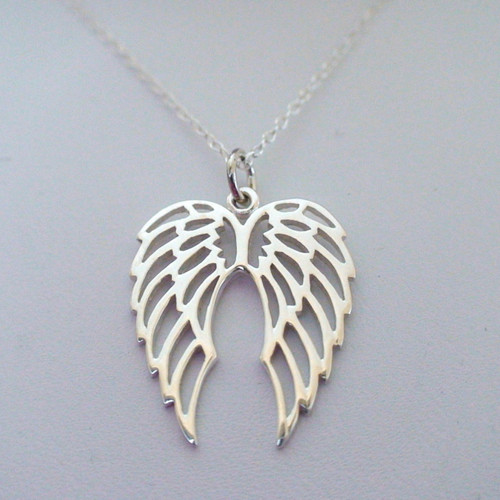 Angel Wings Necklace Sterling Silver
