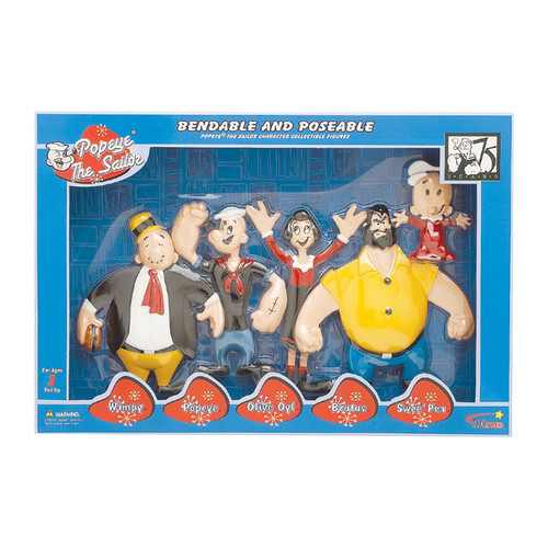 Popeye Retro Bendable Boxed Set