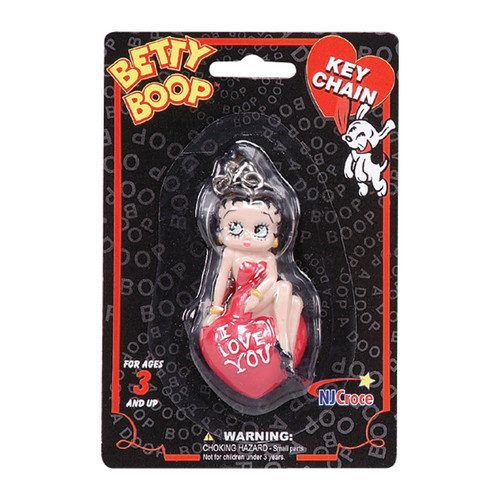 Betty Boop I Love You 3D Keychain