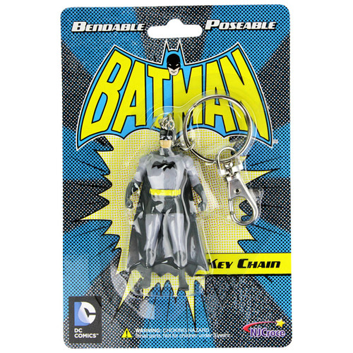 Batman 3in Bendable Key Chain - Old packaging