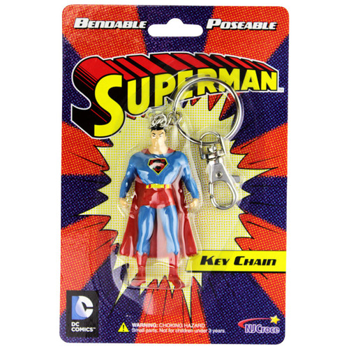 Superman 3in Bendable Key Chain - Old packaging