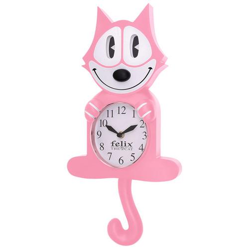 Pink Felix 3-D Motion Clock