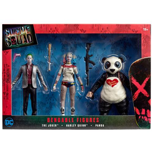 Suicide Squad (2016) Bendable 3pc. Boxed Set
