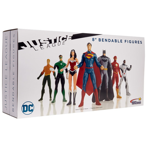 "Justice League New 52 8"" Bendable Figure 7pc. Set"