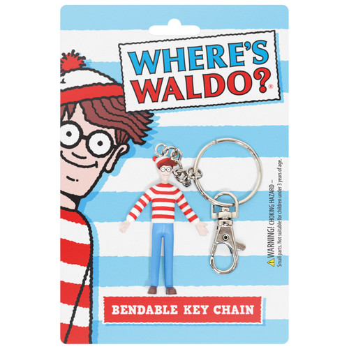 "Where's Waldo? 3"" Bendable Key Chain"