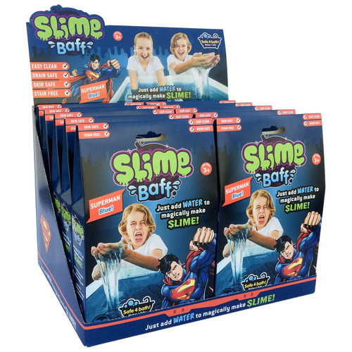 Superman Blue Slime Baff CDU (open)