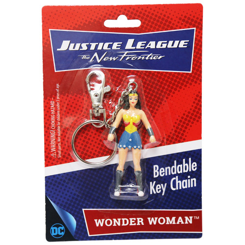 Wonder Woman 3in Bendable Key Chain - New Frontier packaging