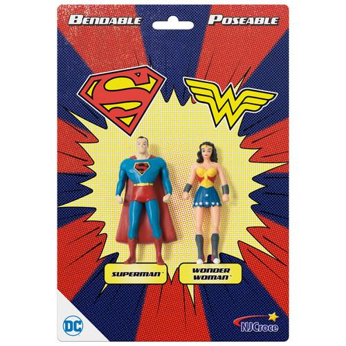 "Superman & Wonder Woman 3"" Bendable Pair"