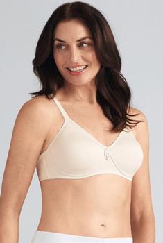 Lara SB  Mastectomy Bra by Amoena Wire Free /Padded / Seamless Bra/ Teeshirt Bra  Off White