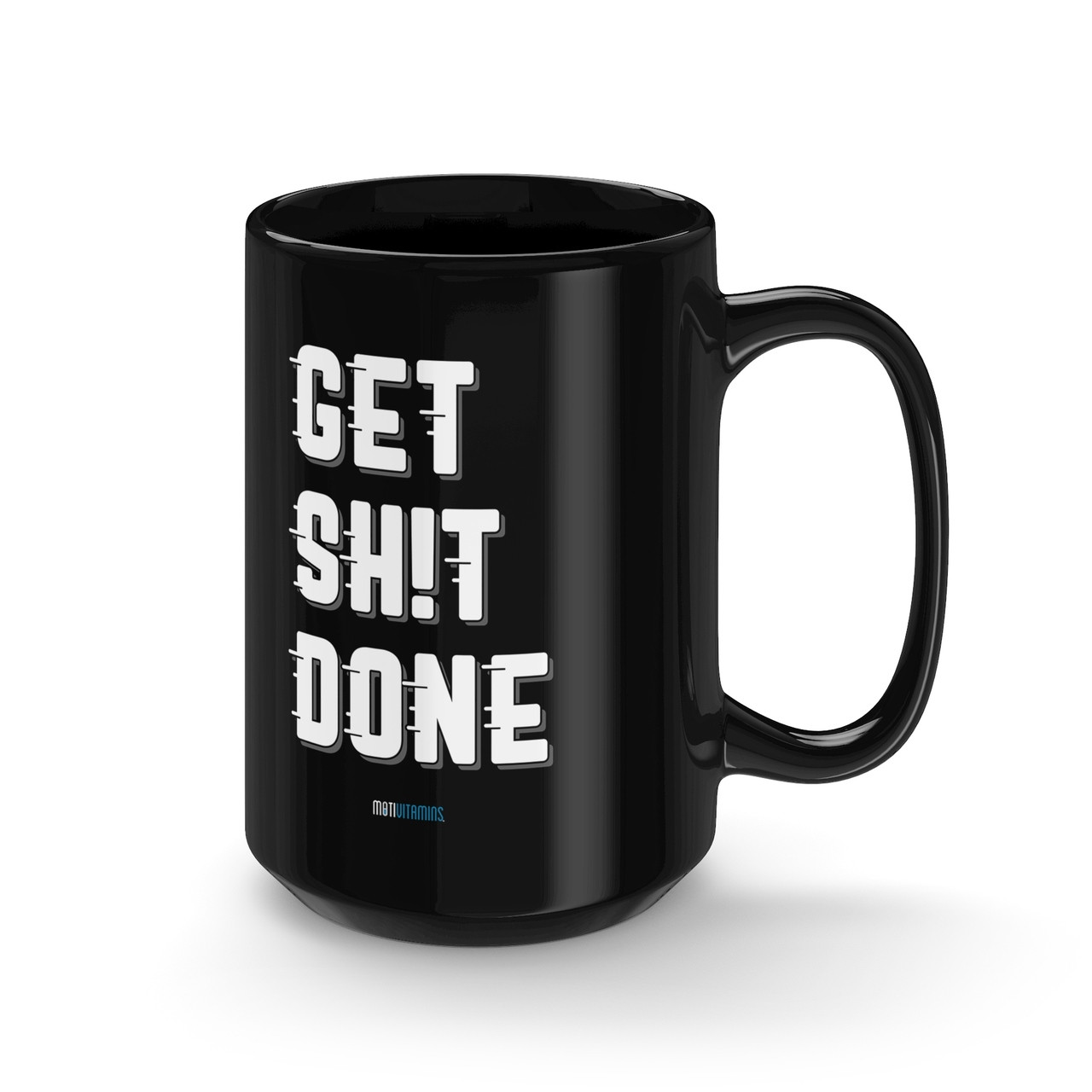 Get Done Black Mug Right Side View