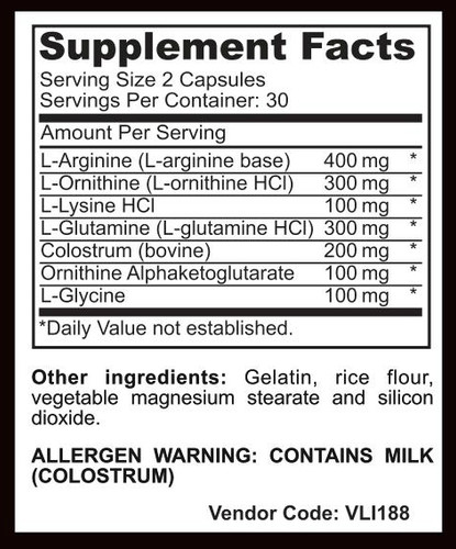 Hormo-Plex - GH Support - Supplement Facts