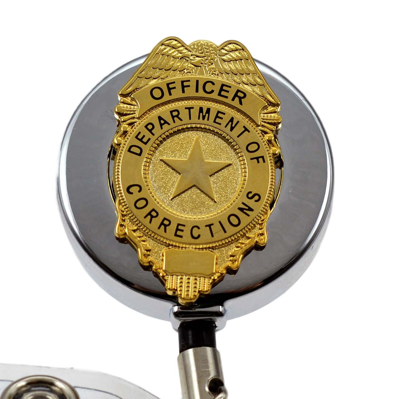 Ordinaire Corrections Officer Retractable Badge Reel ID Holder