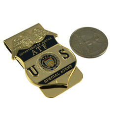 ATF DOJ Alcohol Tobacco Firearms & Explosives Badge Money Clip