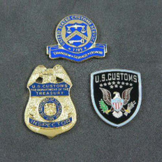 U S Customs Inspector Pin Set